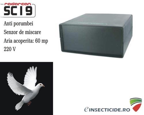 Aparat anti porumbei cu senzor de miscare (100 mp) - SC19
