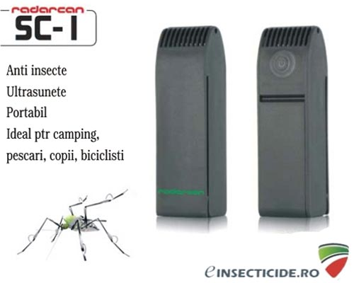 Dispozitiv portabil cu ultrasunete anti tantari (ideal pescari) - Radarcan SC1