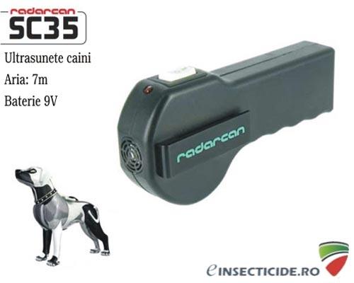 Dispozitiv electronic portabil pentru alungarea cainilor (10 mp) - Radarcan SC35