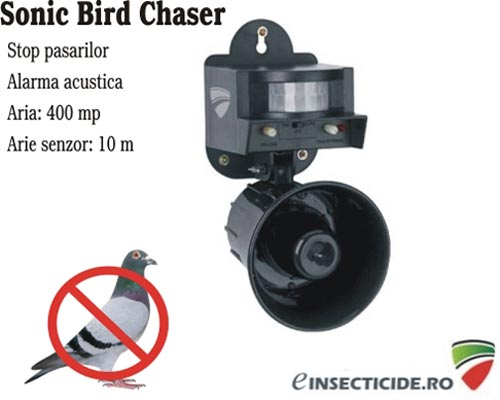 Pestmaster Sonic Bird Chaser aparat anti pasari (400 mp)
