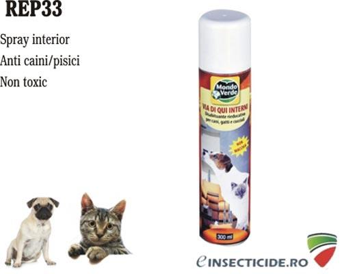 Spray cu aerosoli anti caini, pisici pentru interior (300 ml) - REP33