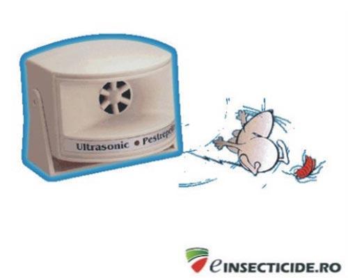 Ultrasonic Pestrepeller aparat cu unde ultrasonice impotriva soarecilor (100mp)