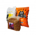 Set format din 1 sac hrana catei de la Greedy, 10 kg, 1 sac hrana catei de la Bodri, 10 kg  si 1 sac hrana pisici Finci, 5 kg.