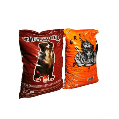 Pachet de la Hector si Greedy pentru un catel sanatos 10 kg per sac