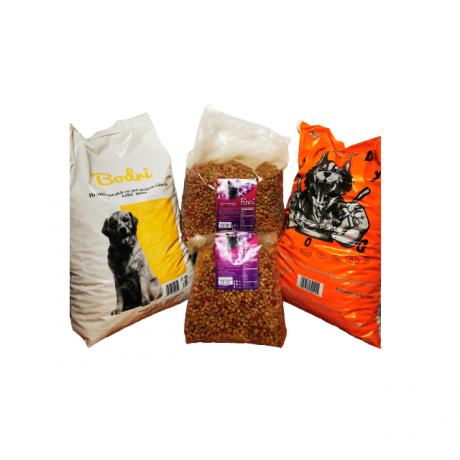 Set hrana animale  companie Bodri, Greedy 10 kg x 2 si 2 saci hrana pisici Finci 3 kg si 5 kg