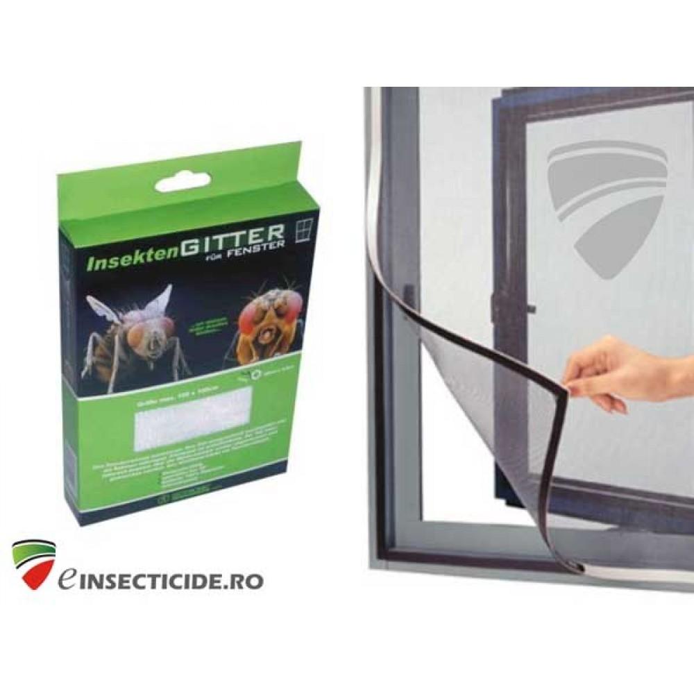 Plasa alba/neagra anti insecte pentru usi (105x215)