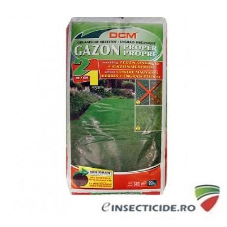 Erbicid + Fertilizant pentru un gazon fara buruieni NPK 9-3-6 DCM (20 Kg)