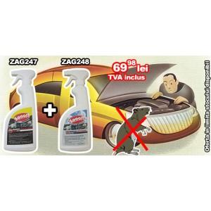 Promotie Pachet protectie Auto - Spray antirozatoare (750ml) Zag247 + Spray eliminare miros rozatoare (750ml) Zag248
