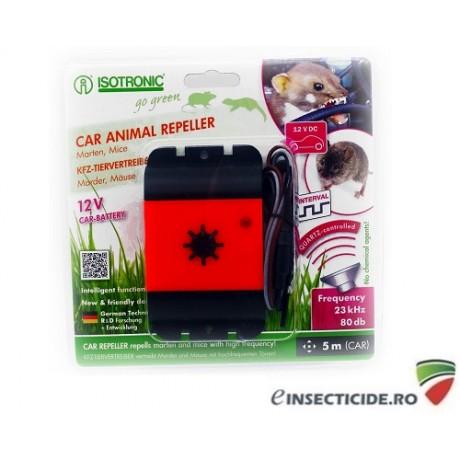 Aparat cu ultrasunete pentru protectia automobilelor impotriva daunatorilor (soareci, sobolani, jderi, dihori) - Car Animal Repeller 78490 (5m)