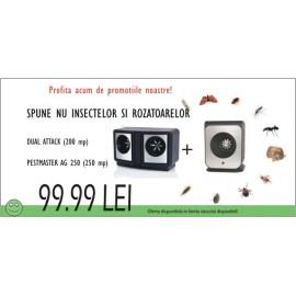 Aparate anti rozatoare si insecte cu ultrasunete, DUAL ATTACK - AG250