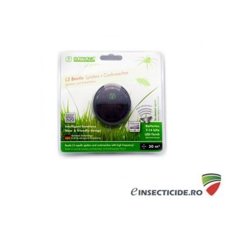 Aparat cu ultrasunete portabil impotriva gandacilor de bucatarie - L3 Beetle 70510 (30mp interior)/(6mp exterior)