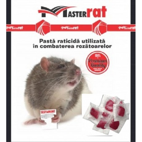 Pasta raticida de culoare rosie contra sobolanilor (200gr) - MasterRat