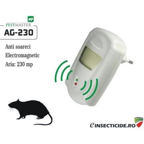 Pest Repeller dispozitiv cu unde electromagnetice anti soareci (230mp) - Pestmaster AG230