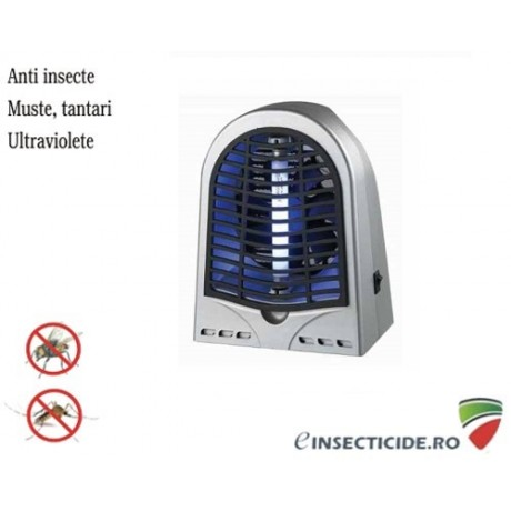 Aparat anti insecte cu lampa UV (1x4W) si ventilator GH-4 (50 mp)