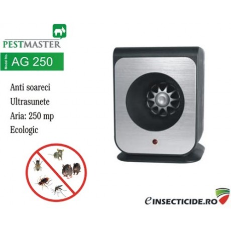 Aparat pentru soareci cu ultrasunete 250 mp (Super oferta) - Pestmaster AG250