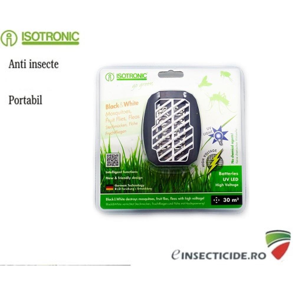 Aparat cu ultraviolete portabil impotriva insectelor (30mp) - Isotronic Black White 25160