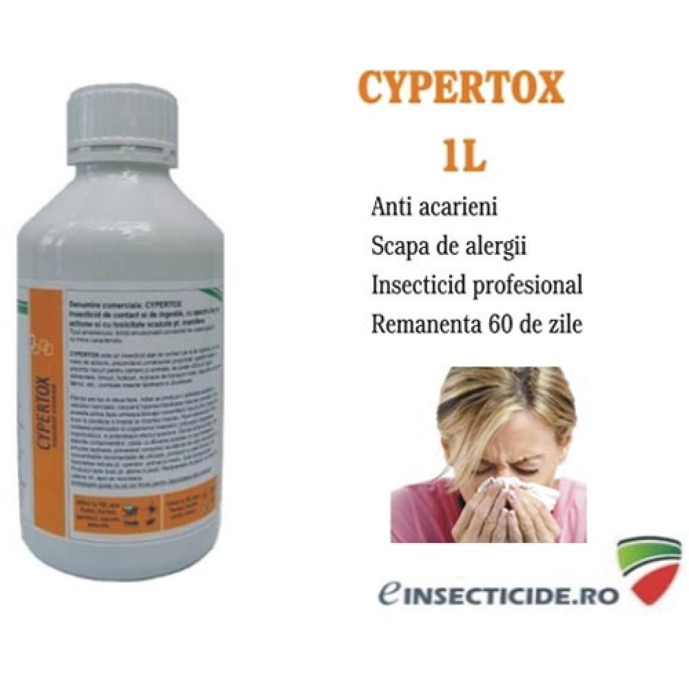Scapa de acarieni cu insecticidul profesional - Cypertox (1L)
