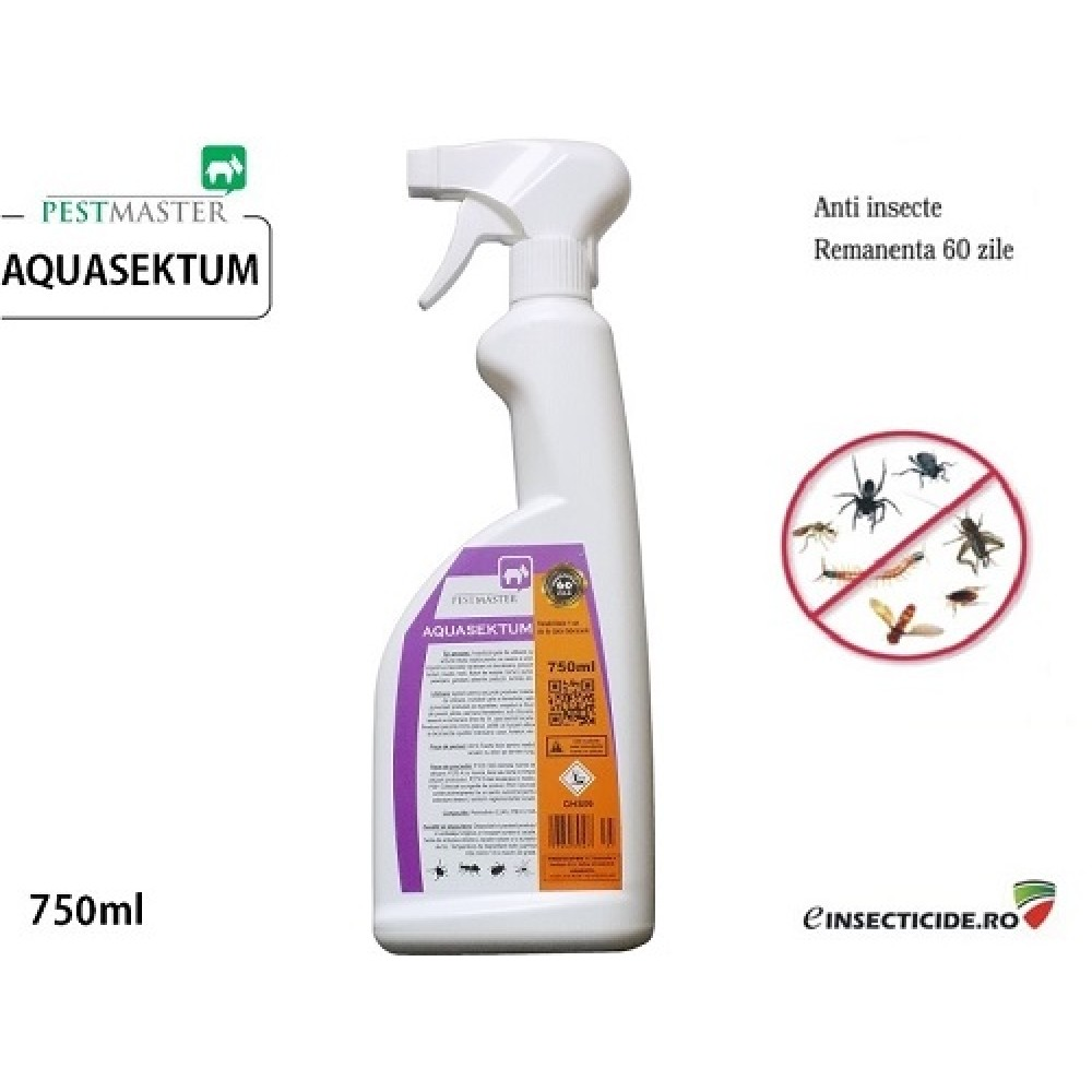 Insecticid rapid impotriva daunatorilor (750ml) - Pestmaster Aquasektum