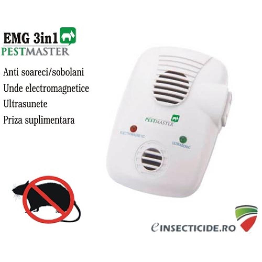 Contra daunatorilor casei cu ultrasunete si unde electromagnetice - Pestmaster EMG 3in1 (200 mp)