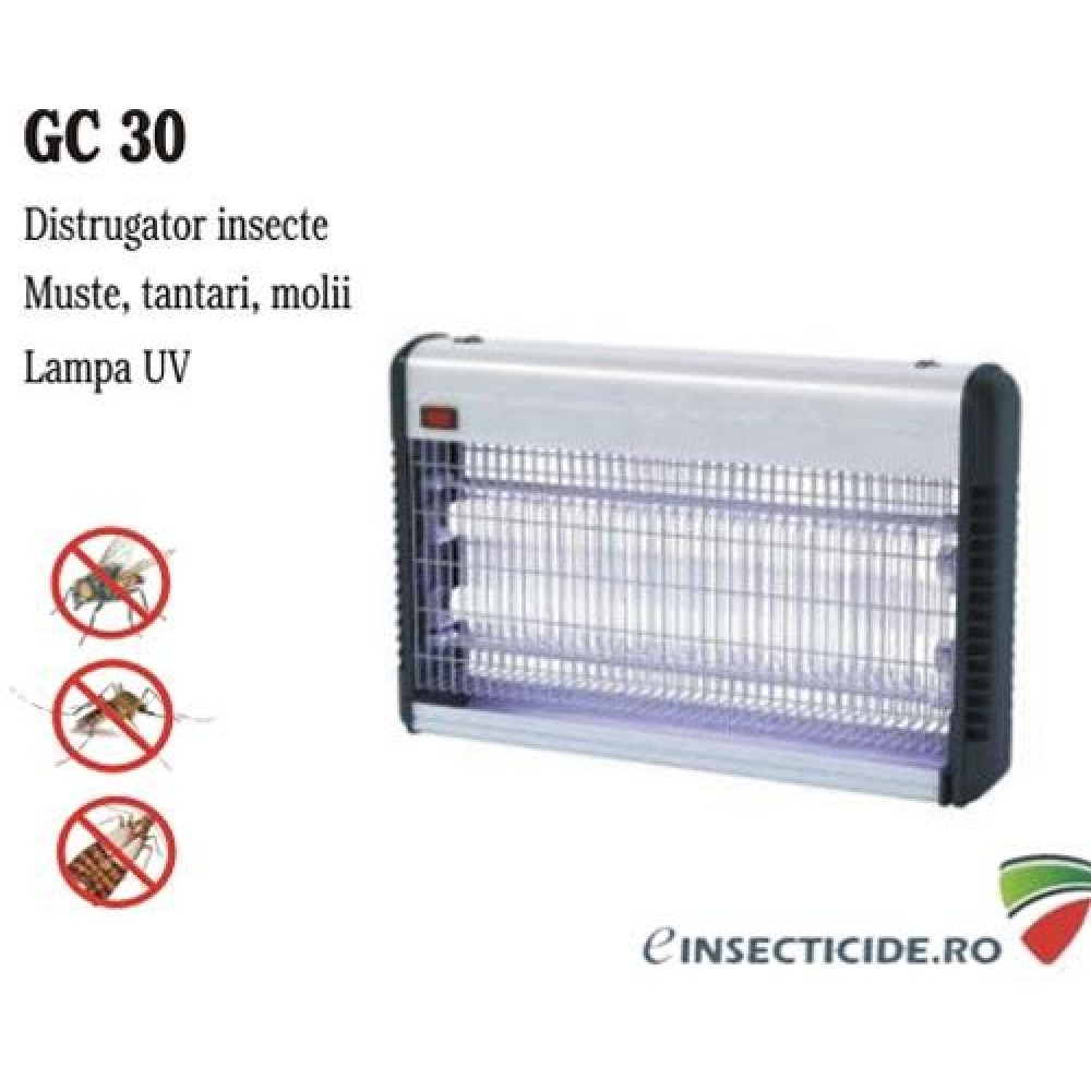 Distrugator anti-insecte semiprofesional, GC 30W (100 mp)