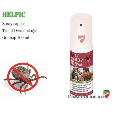 Spray protectie impotriva capuselor cu substante pe baza naturala - Helpic (100 ml)