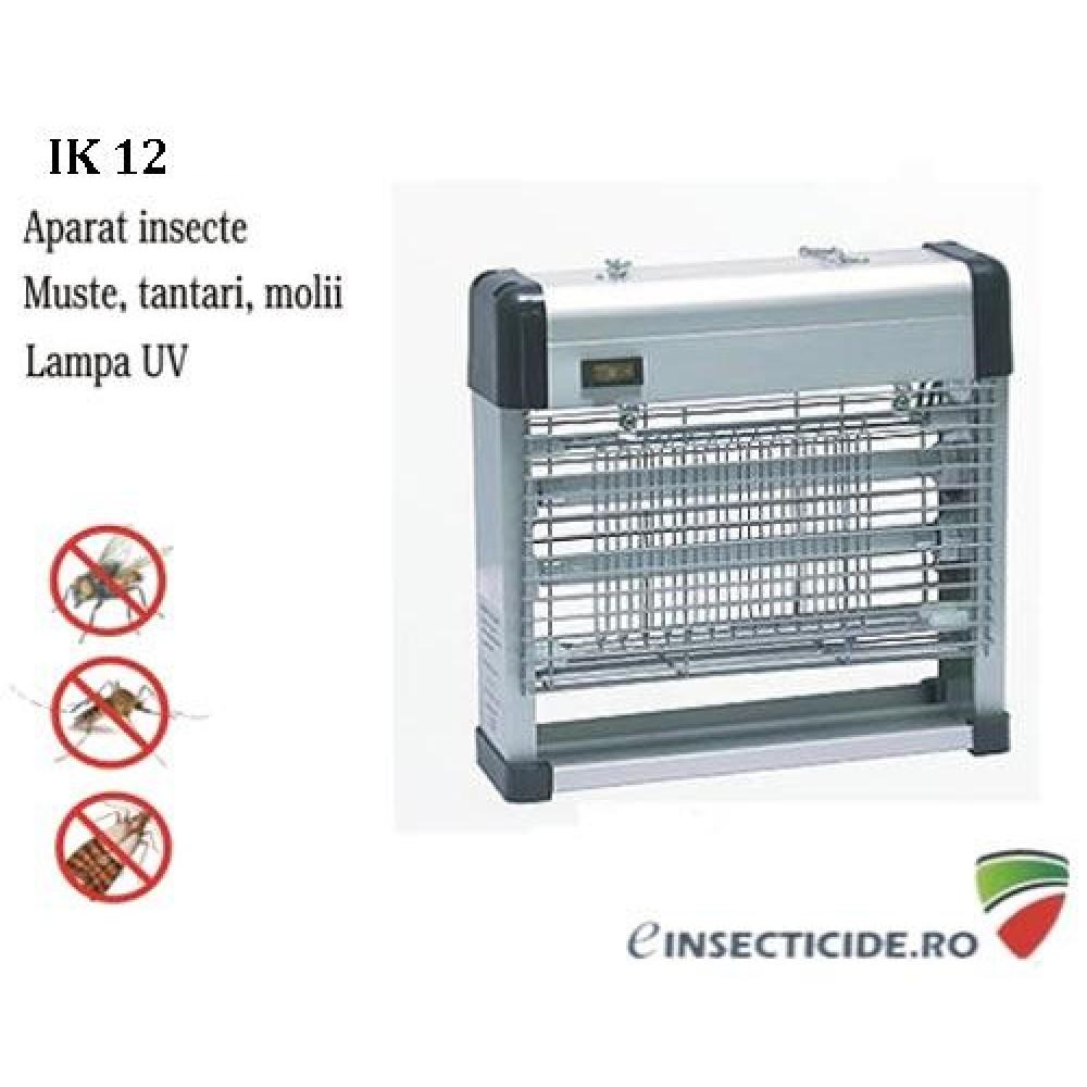 Mini distrugator anti tantari si muste cu lampa UV (acopera 120 mp) - IK12