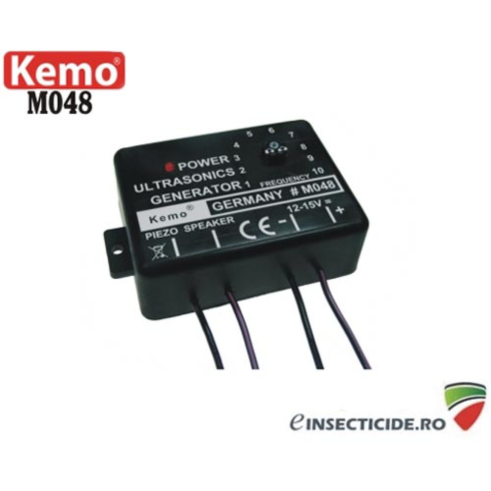 Generator ultrasunete pentru protectia automobilelor impotriva daunatorilor (soareci, jderi, dihori, pasari, insecte) - M048