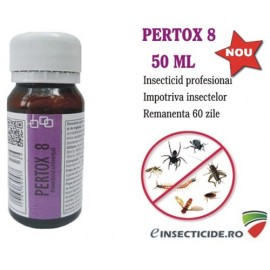 Eliminarea viespilor si albinelor cu insecticidul Pertox 8 - (50 ml)