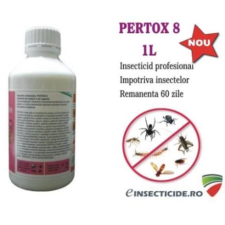 Insecticid de contact si ingestie anti insecte taratoare si zburatoare - Pertox 8
