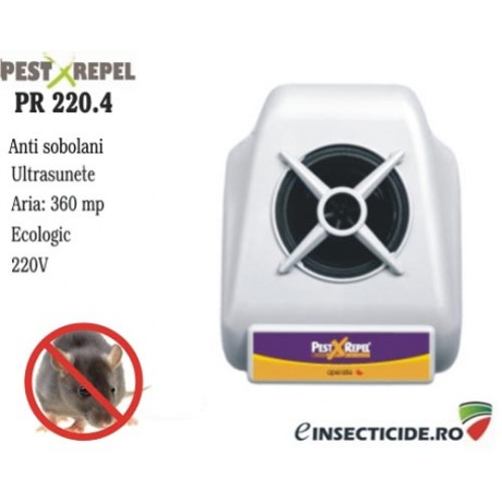 Sistem electronic cu ultrasunete pe frecvente anti sobolani (360 mp) - PR 220.4