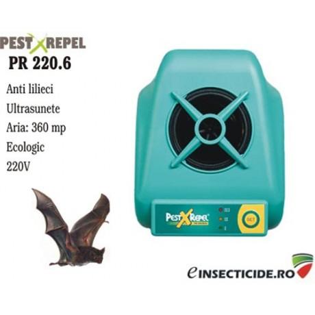 Ultrasunete anti lilieci pt. suprafete de pana la 360 mp - PR 220.6