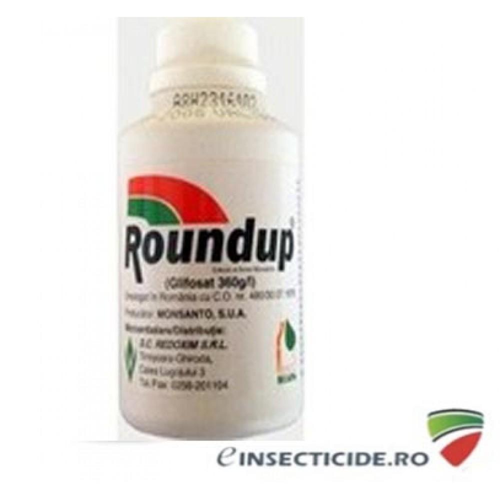 Combate buruienile dintre dalele de ciment cu erbicidul Roundup (100 ml)