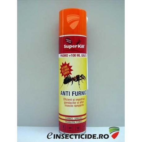 Insecticid aerosol impotriva furnicilor si altor insecte (400 ml) - Super Kill