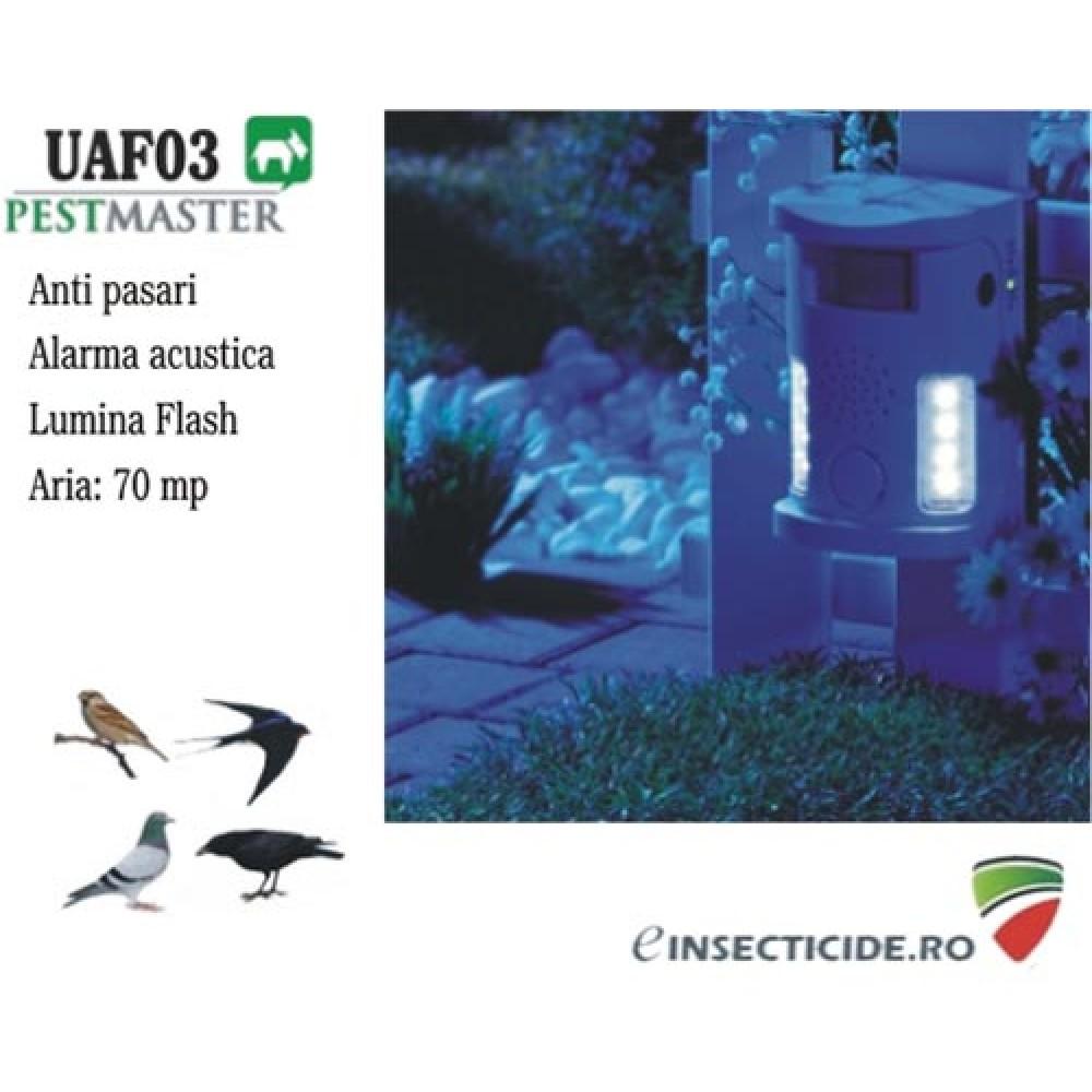 Impotriva porumbeilor cu alarma acustica si flash (70mp) - UAF03