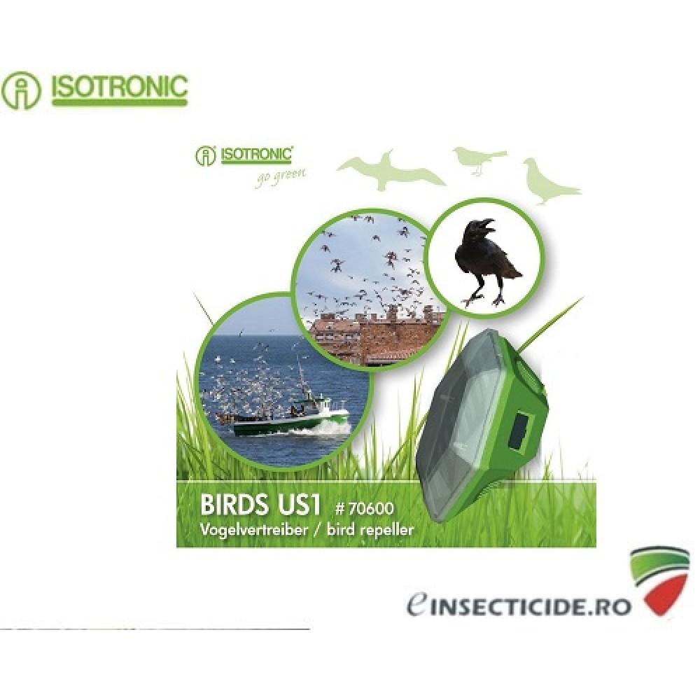 Dispozitiv mobil cu alimentare solara pentru alungarea pasarilor Isotronic US1 70600 (100mp/360°)
