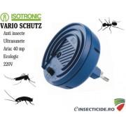 Aparat ultrasunete cu frecvente variabile, anti insecte (40mp) - Vario Schutz