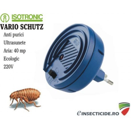 Ultrasunete contra puricilor cu frecvente variabile - Vario Schutz (40 mp)