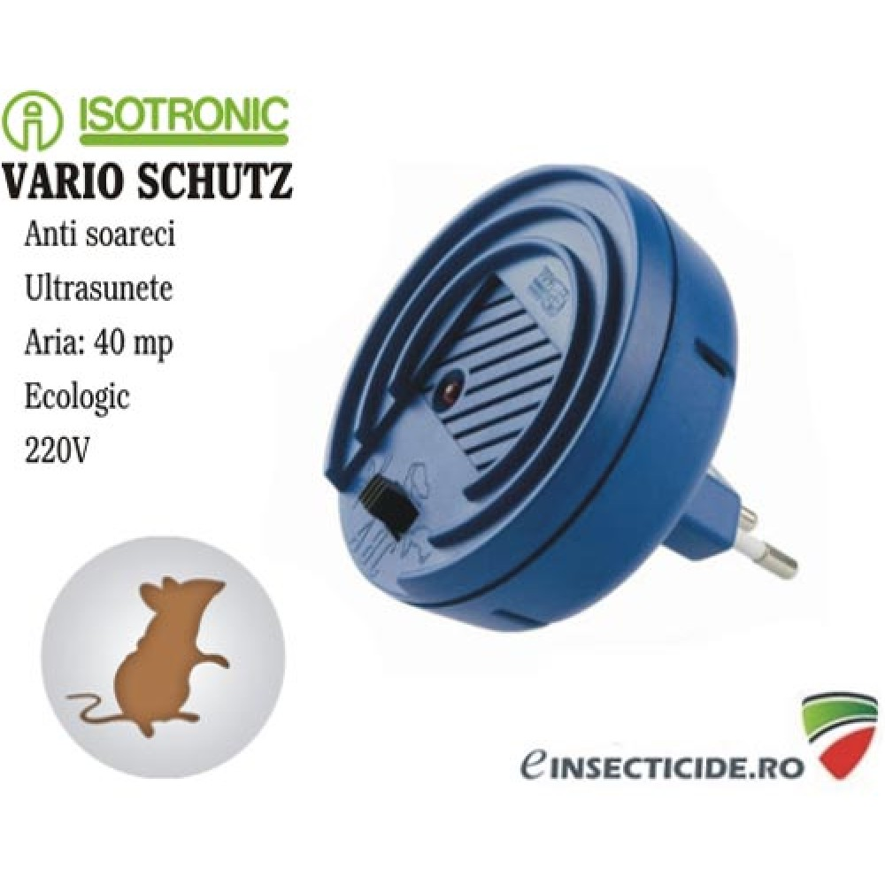 Aparat ultrasunete anti soareci cu frecvente variabile (40 mp) - Vario Schutz