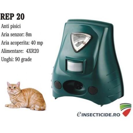 Lampa stroboscopica, ultrasunete si senzor de miscare pentru alungarea pisicilor (40mp) - REP20