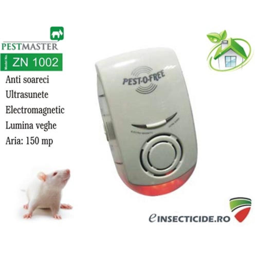 Aparat cu ultrasunete si unde electromagnetice impotriva soarecilor (150mp) - Pestmaster ZN1002