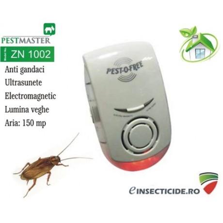 Ultrasunete si unde electromagnetice anti gandaci (150mp) - Pestmaster ZN1002